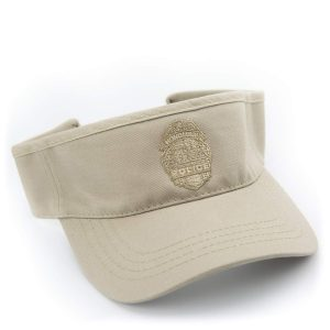 HPD Adjustable Embroidered Badge Visor - Khaki