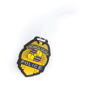 HPD Gold Badge Luggage Tag