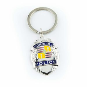 HPD Silver Badge Keychain