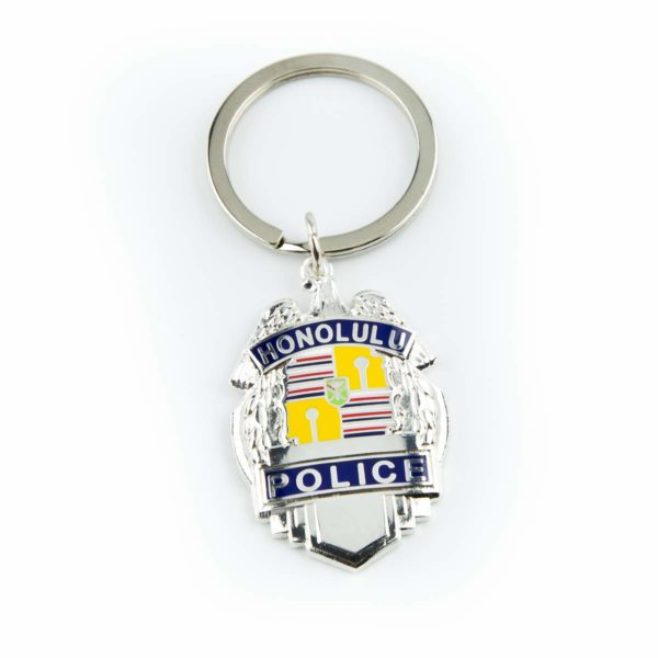 HPD Silver Badge Keychain
