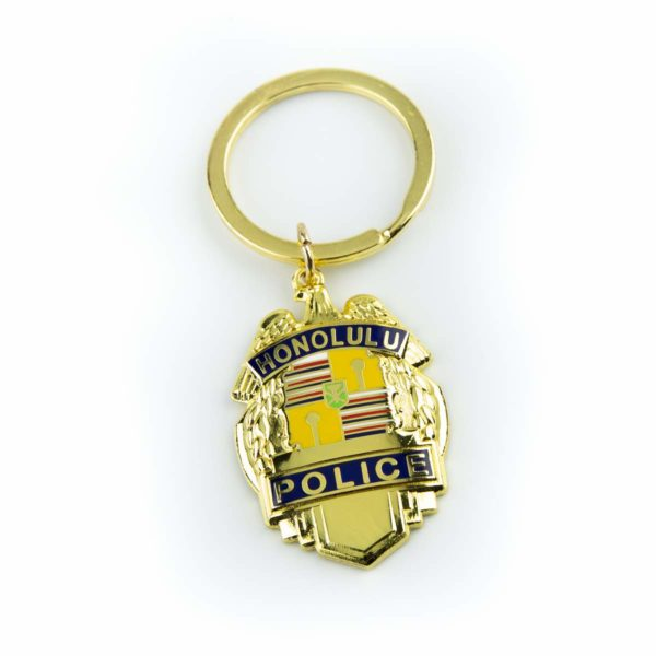 HPD Gold Badge Keychain