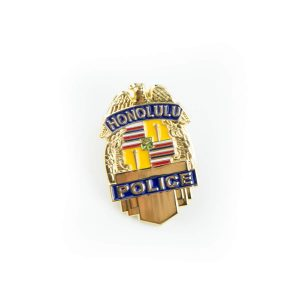 "HPD 1"" Gold Badge Pin"