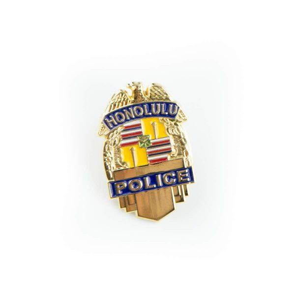 "HPD 1"" Gold Badge Pin"