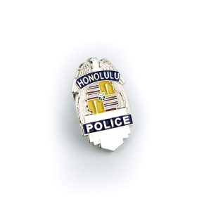 "HPD 1"" Silver Badge Pin"