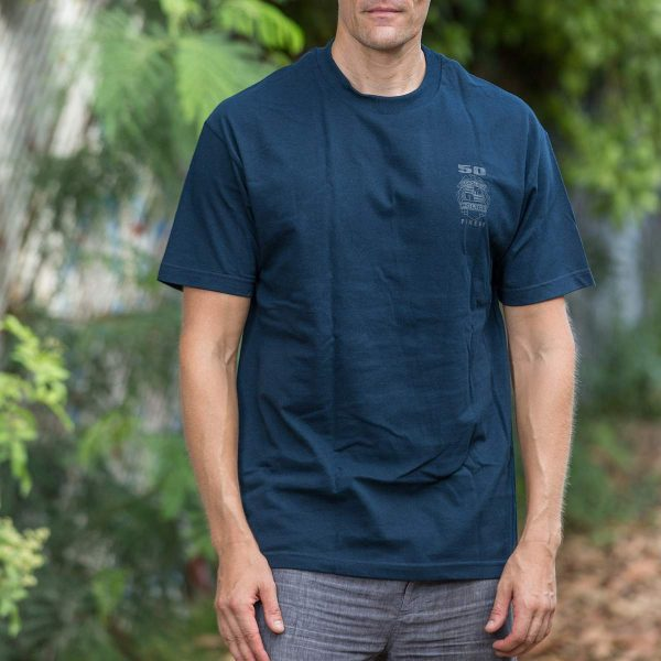 HPD 50 Finest Cotton Adult T-Shirt - Navy Blue