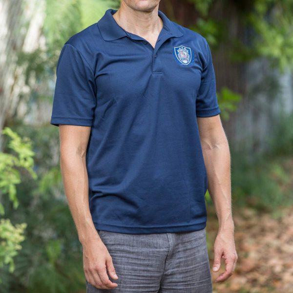 HPD Dri-Fit Patch/Wreath Polo Shirt - Navy Blue