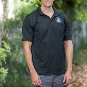 HPD Dri-Fit Patch/Wreath Polo Shirt - Black