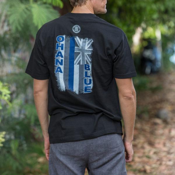 HPD Ohana Blue Flag Adult T-Shirt