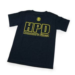 HPD outline Bold Children T-Shirt Navy