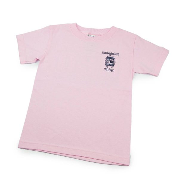HPD outline Bold Children T-Shirt Pink