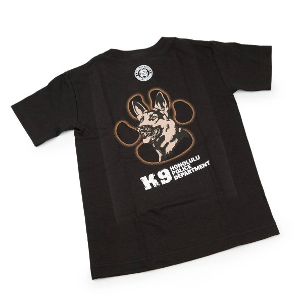 HPD K9 Paw Children T-Shirt Black