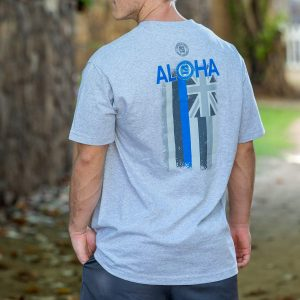 HPD Aloha Flag T-Shirt Heather Grey