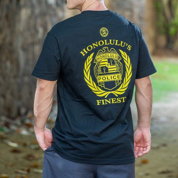HPD Badge Wreath T-Shirt Black