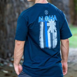 HPD Aloha Flag T-Shirt Navy Blue