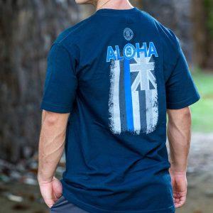 HPD Aloha Flag T-Shirt Navy Blue
