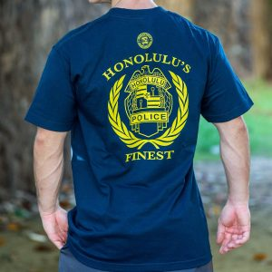 HPD Badge Wreath T-Shirt Navy Blue