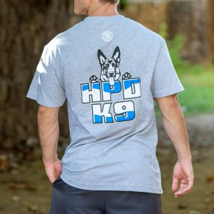 HPD K9 T-Shirt Heather Grey