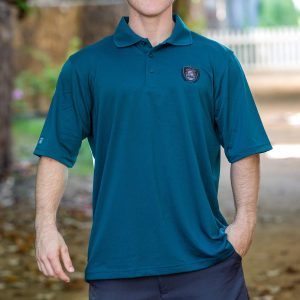 HPD Patch Wreath Small Logo Polo Shirt Teal