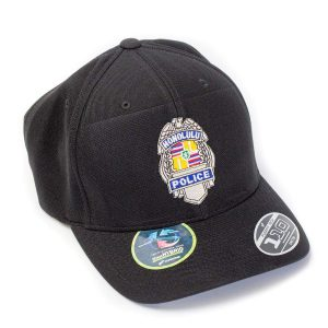 HPD Silver Badge Badge OSFA Cap - Black