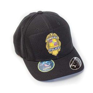 HPD Gold Badge Badge OSFA Cap - Black