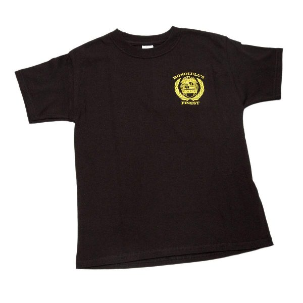 HPD Batch Wreath Children T-Shirt Black