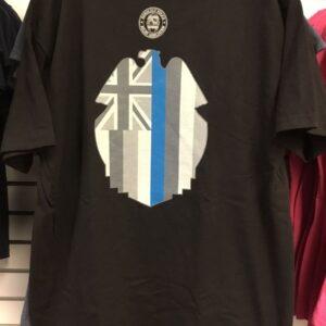 HPD Flag Badge Outline Adult T-Shirt Black