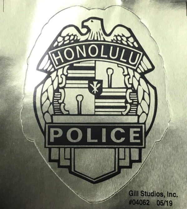HPD Badge Sticker Gold
