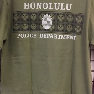 HPD Kukui Nut Band Adult T-Shirt Military Green
