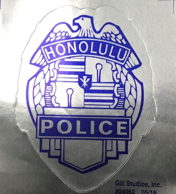 HPD Badge Sticker Silver