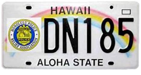HPRA License Plate
