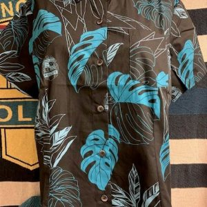 HPD Aloha Shirt Black Woman