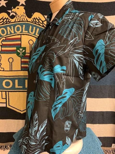 HPD Aloha Shirt Black Woman