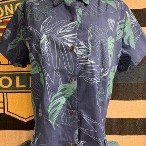 HPD Aloha Shirt Blue Woman