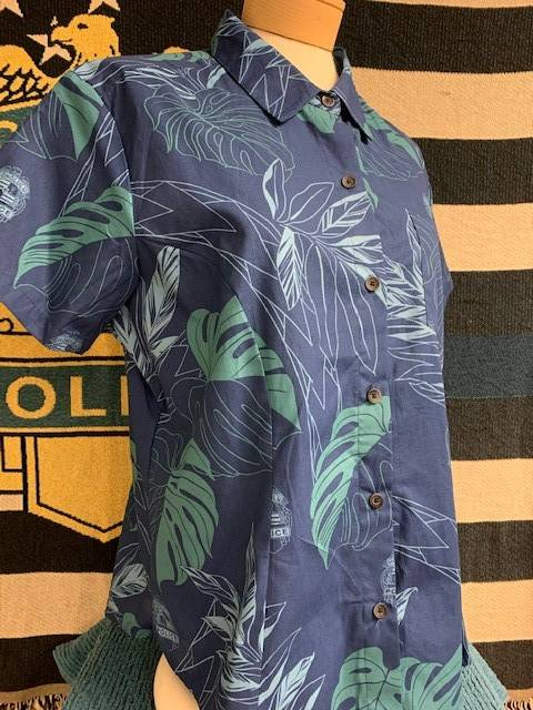 HPD Aloha Shirt Blue Woman